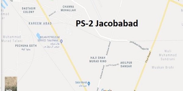 PS 2 Jacobabad Google Area Location Map Election 2018 Sindh Assembly constituency (Halqa)-min