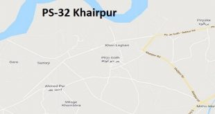 PS 32 Khairpur Google Area Location Map Election 2018 Sindh Assembly constituency (Halqa)-min