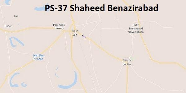 PS 37 Shaheed Benazirabad Google Area Location Map Election 2018 Sindh Assembly constituency (Halqa)-min