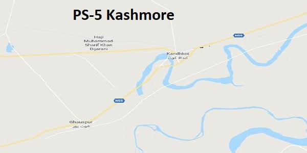 PS 5 Kashmore Google Area Location Map Election 2018 Sindh Assembly constituency (Halqa)-min