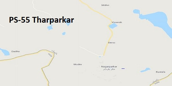 PS 55 Tharparkar Google Area Location Map Election 2018 Sindh Assembly constituency (Halqa)-min