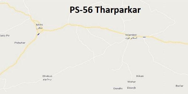 PS 56 Tharparkar Google Area Location Map Election 2018 Sindh Assembly constituency (Halqa)-min