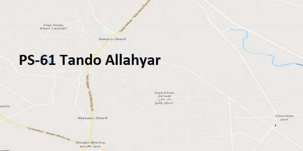 PS 61 Tando Allahyar Google Area Location Map Election 2018 Sindh Assembly constituency (Halqa)-min