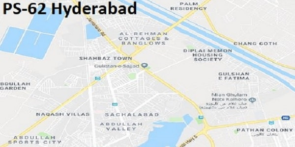 PS 62 Hyderabad Google Area Location Map Election 2018 Sindh Assembly constituency (Halqa)-min