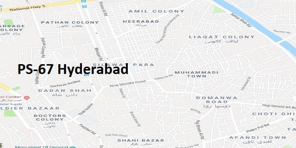 PS 67 Hyderabad Google Area Location Map Election 2018 Sindh Assembly constituency (Halqa)-min