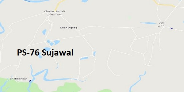 PS 76 Sujawal Google Area Location Map Election 2018 Sindh Assembly constituency (Halqa)-min