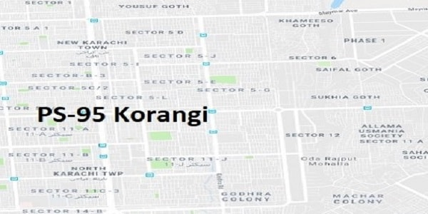 PS 95 Korangi Karachi Google Area Location Map Election 2018 Sindh Assembly constituency (Halqa)-min