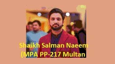 Sh Salman Naeem MPA PP-217 Multan Picture