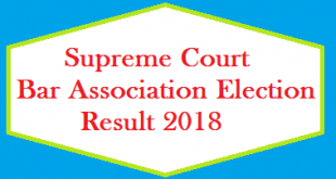 Supreme Court Bar Association Election Result 2018