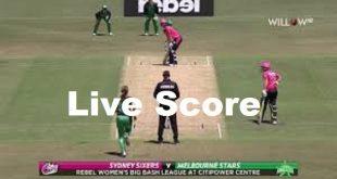 Live BBL Cricket MS v SS Melbourne Stars Vs Sydney Sixers Sony Sports Live-min