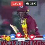 19th Match CWC19 - England (ENG) v West Indies (WI) Live Streaming ICC Cricket World Cup 2019