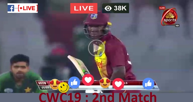 8th CWC19 Match - India (IND) Vs South Africa (SA) Live Streaming ICC Cricket World Cup 2019 DD Sports Live